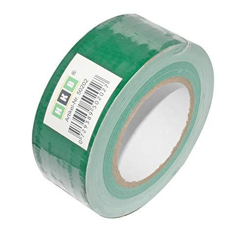HKB ® 1 Rolle Panzerband Panzertape Klebeband Gewebeband Faser-Klebeband Gaffer-Tape Duct Tape, 50m X 50mm, grün, Hersteller HKB, Artikel-Nr. 50202