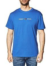 Tommy Jeans TJM Straight Logo tee Camisa para Hombre
