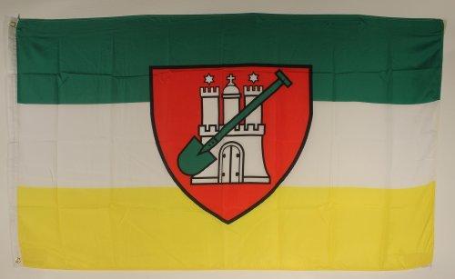 Buddel-Bini Flagge Fahne ca. 90x150 cm : Hamburger Gartenflagge Kleingarten