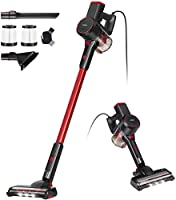 Jajibot Corded Handheld Stick Vacuum Cleaner 15000PA Lightweight Bagless Upright Stick Vacuum Cleaners with HEPA...