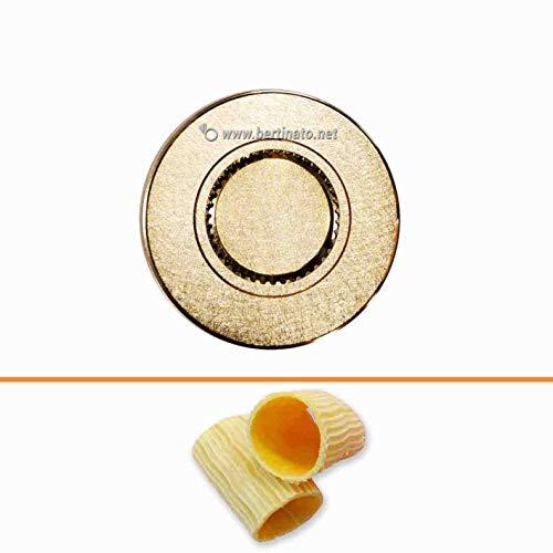 Accessorio Trafila in bronzo formato Paccheri per macchina pasta fresca professionale VIP/2 2,8kg e VIP4 4kg e compatibile FIMAR MPF 2,5 e MPF 4 (RIGATI)