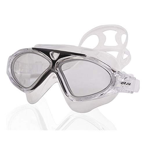 Gafas de natación para niños, impermeables, antiniebla, protección UVA/UVB, sin fugas, visión ancha, transparente, junta de silicona suave, con funda, C1