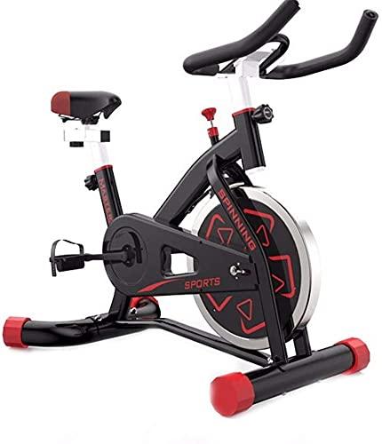 Equipamiento Home Gym Bicicleta fija de ciclismo para interiores, Bicicleta de spinning ultra silenciosa para interiores Control magnético, Bicicleta estática para interiores de resistencia ajustable,