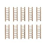 UPKOCH 10 mini scale in legno per casa delle bambole, scale, giardino delle fiabe in miniatura, scaletta decorativa per bonsai