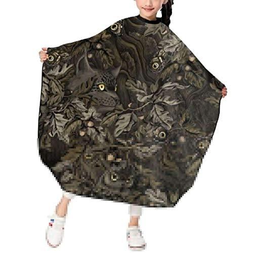 Forests Camouflage Owl Leopard Haarschneideschürze Haarschnitt Friseur Cape Cover...