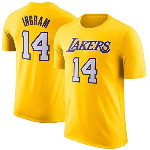 XH-Sport NBA Los Hombres de Jersey, Lakers Ingram # 14 Casual Cartas de Manga Corta, Adolescente Loose Short Deportes Jersey 2019 2020 versión Urbana,XXL