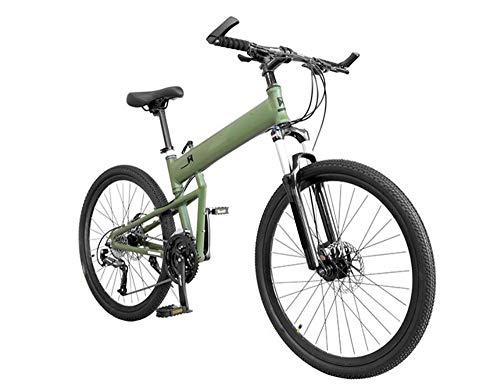 EEKUY Bicicleta de montaña portátil, Bicicleta de Aluminio Plegable Bicicleta súper Ligera Bicicleta de Velocidad Variable de 30 velocidades,C