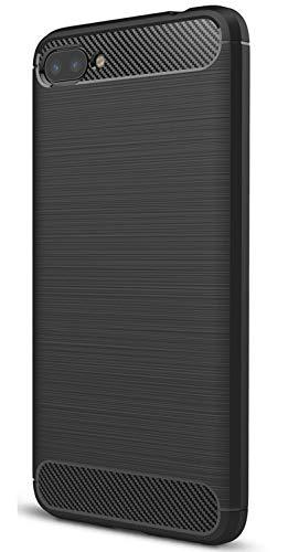 XINFENGDI Asus Zenfone 4 Max ZC520KL Hülle, Tasche mit Stoßdämpfung Robuste TPU Stylisch Karbon Design Handyhülle Case Hülle für Asus Zenfone 4 Max ZC520KL - Schwarz