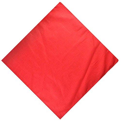 Cloud9basic - Bandana mixte - Couleur unie - 100 % coton - Taille : 55 x 55 cm - - taille unique