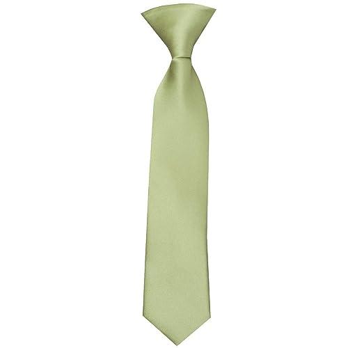TIES R US Pre Tied Bottle Green Satin Boys Bow Tie Age 4-7
