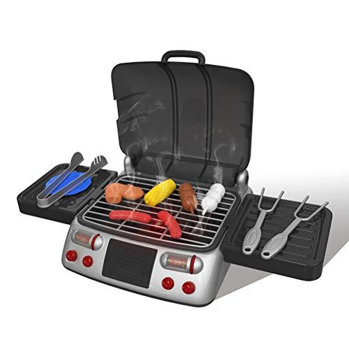 EisEyen Set da Barbecue Giocattolo per Bambini Grill Role Play Toys Cucina Giocattolo
