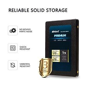 """Inland Premium 1TB SSD 3D QLC NAND SATA 3.0 6GB/s 2.5"""" 7mm Internal Solid State Drive (1TB)"""