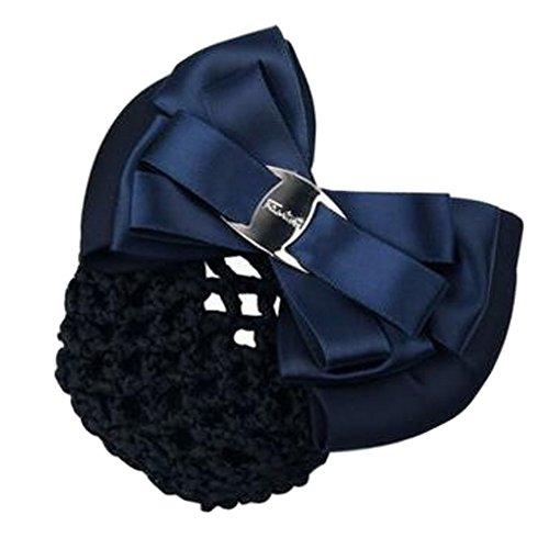 Filles Snood net Clip de cheveux Couvercle de coque Bow Barrette professionnel Coiffure, N
