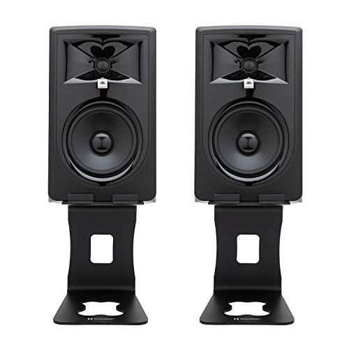 JBL 306P MKII Zwei-Wege-Studio-Monitor-Set (15,2 cm / 6 Zoll), mit Knox Gear...