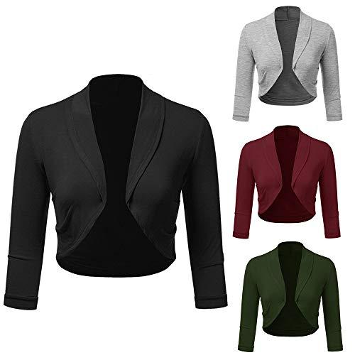 VJGOAL damesjas elegant grote maten vrouw business blazer pak lange mouwen slim jack outwear 3/4 mouwen S-5XL gebreide jas