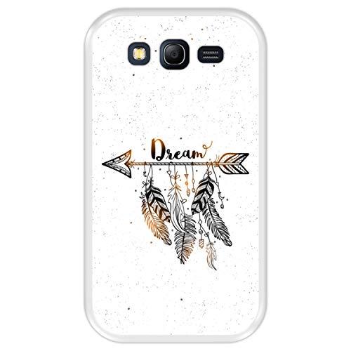 Hapdey Funda Transparente para [ Samsung Galaxy Grand Neo - Neo Plus ] diseño [ Estilo Boho, Cazador de sueños con Plumas ] Carcasa Silicona Flexible TPU