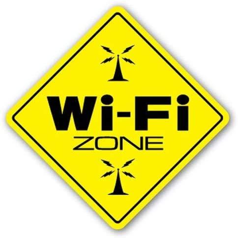WiFi Zone Hot Spot Internet sans fil Porte murale Wi Fi Coffee 20 x 30 cm en fer Look rétro Décoration pour maison, cuisine, salle de bain, ferme, jardin, garage Citations inspirantes