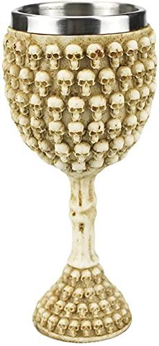 Kit de decoración de Halloween Decoraciones de la mesa de Halloween - Copos para beber-Halloween Skull Copa de vino para el regalo de la fiesta de Halloween Accesorios para barras DéCor estacional