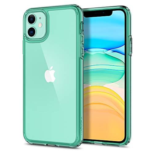 Spigen Funda Ultra Hybrid, Compatible con Apple iPhone 11 (6.1') 2019 - Green Crystal