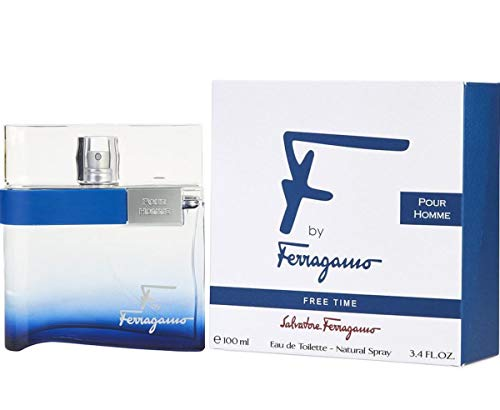 Salvatore Ferragamo F Free Time Eau De Toilette Spray for Men, 3.4 Ounce