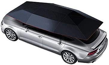 غطاء سيارة قابل للطي أوتوماتيكيًا، مظلة سيارة مع مضاد للأشعة فوق البنفسجية، مضاد للماء، مضاد للرياح والثلج، العاصفة، ذيل 4200X2200 ملم مع تحكم عن بعد (أسود)