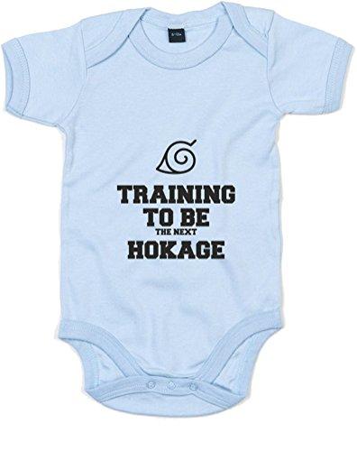 Training to Be The Next Hokage, Imprimé bébé Grandir - Dusty Bleu/Noir 12-18 Mois