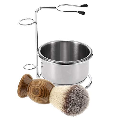 B Baosity 3pcs Bol Tasse Rasage Barbier Brosse Support Pour Hommes