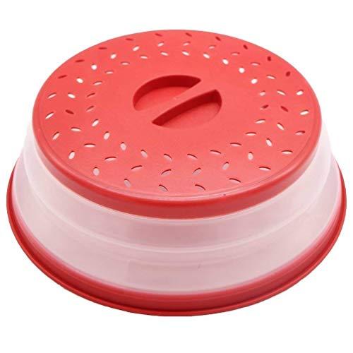 Nifogo Faltbare Mikrowellenabdeckhaube/Mikrowellenabdeckung, BAP-frei und ungiftig (rot)