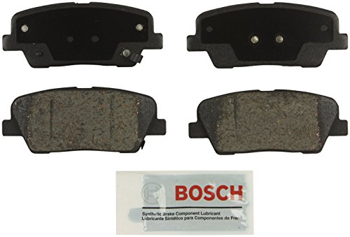 Bosch BE1284 Blue Disc Brake Pad Set for Select Hyundai Entourage, Equus, Genesis, Genesis Coupe, Santa Fe; Kia Borrego, Sedona, Sorento - REAR