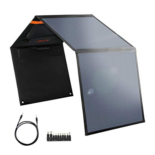 AIPER Portable Solar Panel 60W for Suaoki/Jackery/Goal Zero Yeti/Rockpals/Paxcess Portable Power Station as Solar Generator,Portable Foldable Solar Charger with USB Port for Summer Camping Van RV