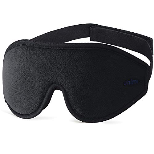 Unimi Premium Schlafmaske Damen und Herren, NULL-Druck 3D konturierte verbesserte Augenmaske, verstecktes Nasenflügel-Design ermöglicht absolute Dunkelheit, 100{ebd97fe33303607e7a1d71c8779f183ac5cd69245e6bcf1f9af38a2863c822c8} hautfreundliche Seide Augenmaske