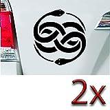 Autoaufkleber Schlangen Symbol 7,5x7 thumbnail