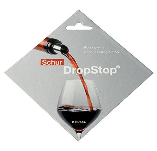 2 Stück/Set. Original Drop Stop Weinausgießer. Wiederverwendbarer Tropfschutz