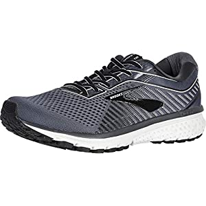 Brooks Men's Ghost 12, Black/Pearl/Oyster, 10 D