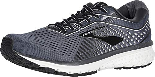 Brooks Men's Ghost 12, Grey/Black, 9.5 D