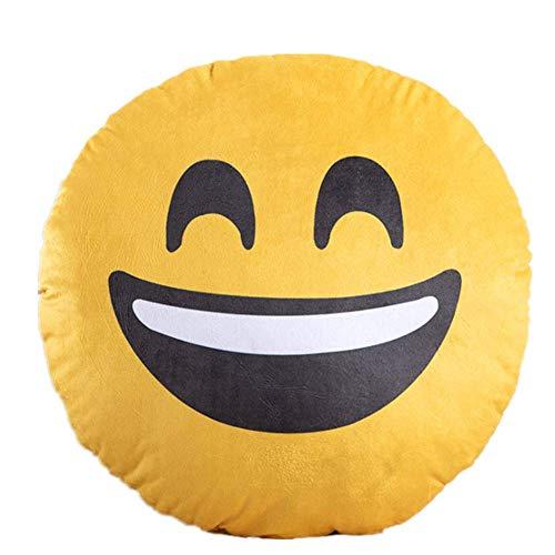Kissen Emoji Druck Umarmung Kissen Plüsch Spiel Kissen Kinder Spielzeug Kissen 40 * 40cm/ lachen