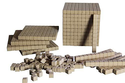 WISSNER® aktiv lernen - Dienes Grundsortiment zum Dezimalrechnen 121 Teile - RE-Wood®