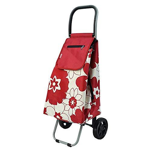 ZWXXQ Einkaufswagen 38L faltbar Gepäckwagen faltbar Wagen Picknick Einkaufen Rollwagen Einkaufswagen geeignet für leicht wiederverwendbar-33x31x93cm EIN