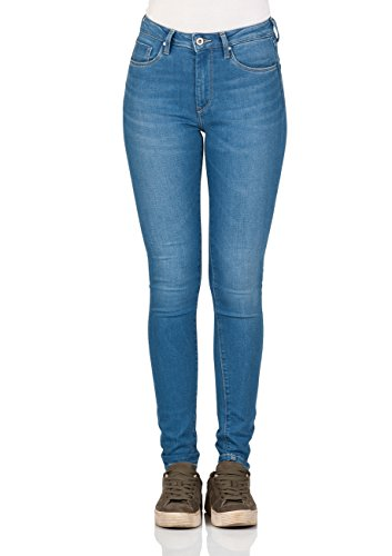 Pepe Jeans dames jeans regent - slim fit - blauw - light blue denim