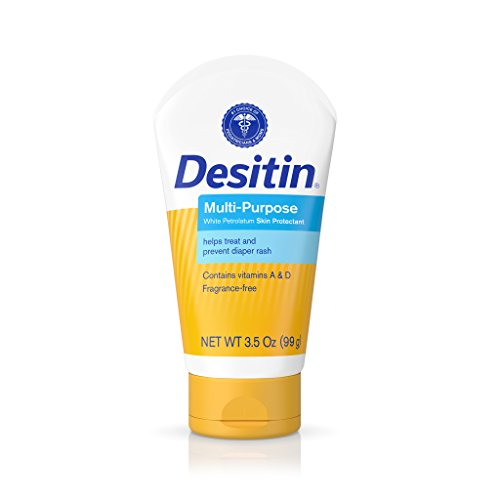 Desitin Skin Protectant And Diaper Rash Ointment MultiPurpose With Vitamins A amp D Travel Size 35 Oz Tube