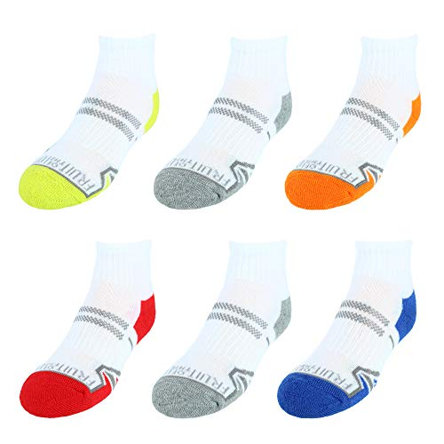 Need size - Fruit of the Loom Boys Active Ankle Socks, 6 Pack