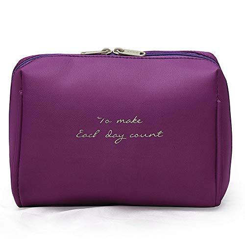 QFERW Estuche cosmético 1 PCS Bolso cosmético de color sólido Estuche de belleza para mujer Kits de bolsa de viaje organizador portátil, verde