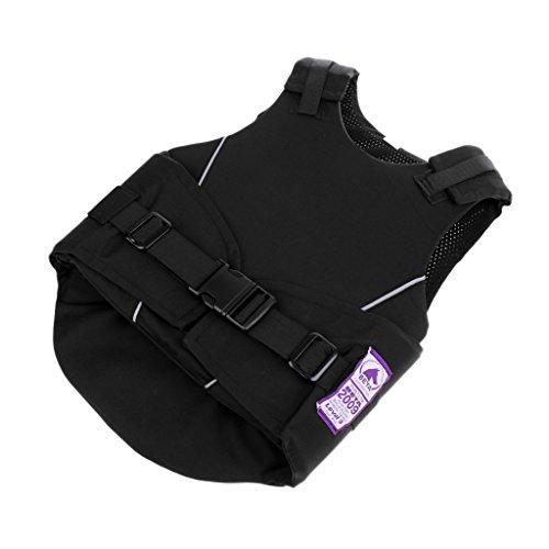 Toygogo Kinder Reitschutzweste Körperschutz Brustschützer Sicherheitsweste Schutzweste - S