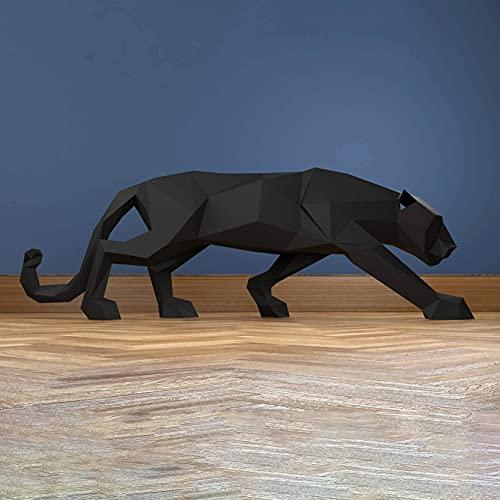 Pantera negra Papercraft kit,Yona DIY Kit de origami 3D para montar a mano, 3D Puzzle para la decoración de hogar,Trofeo de papel, Regalo de papel,Bricolaje en papel, Rompecabezas 3D