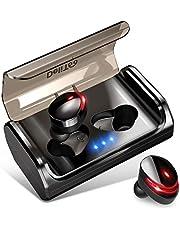 【2019最新版 Bluetooth5.0+120時間連続駆動】 Bluetooth イヤホン Hi-Fi高音質 EDRが搭載 IPX7完全防水 自動ペアリング 3Dステレオサウンド CVC8.0ノイズキャンセリング&AAC8.0対応 完全ワイヤレス イヤホン 両耳 左右分離型 自動ON/OFF Siri対応 音量調整 マイク内蔵 充電式収納ケース付き 技適認証済 ブルートゥース スポーツ イヤホン iPhone/Android対応
