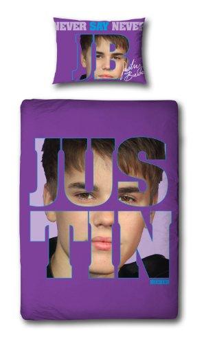 Character World Justin Bieber Bettwäsche-Set für Einzelbett, 135 x 200 cm