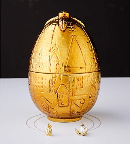 Harry Potter Duftkerze goldenes Ei mit limtierter Halskette Charmed Aroma, Harry Potter Kerze mit Schmuck