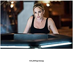 Caity Lotz 8 Inch x 10 Inch Photograph Legends of Tomorrow The Flash The Machine Leaning on Forearms Wearing Black Hair Up kn