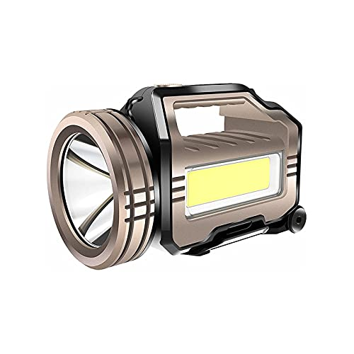WGHH Linterna LED, Reflector al Aire Libre Impermeable, luz Blanca/luz roja, 3 Engranajes Luz Principal 2 Engranajes de Cola de Engranajes, Utilizado para Emergencia, Familia, al Aire Libre