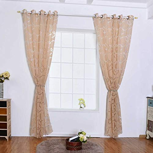 Eastery Kreis Blase Schere Durchlässiges Fenster Vorhang Balkon Wohnzimmer Semi Sheer Einfacher Stil Jalousie Tür Raumteiler Bubbles Vorhänge Beige 100 * 250Cm (Color : Beige, Size : 100 * 250Cm)